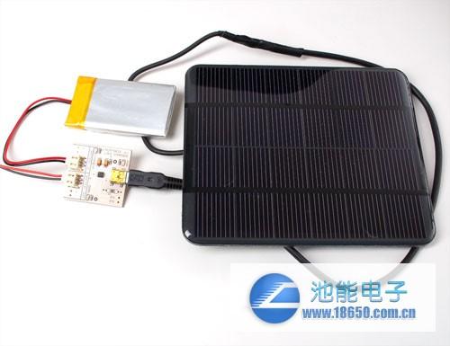 自制锂聚合物电池太阳能充电器